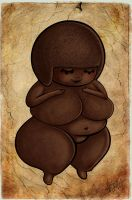 Chibi Of Willendorf by zombielily