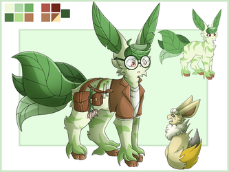 [Contest] .:Kiwi- the Beta Leafeon:. by XRed-moon