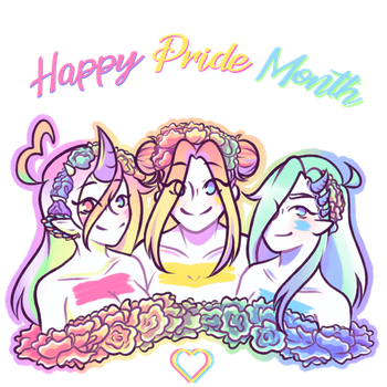 Happy pride month ! ~ by Tsunesamaa