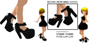 MMD Shoes S001 - Punky Heels by FaiyeeMMD