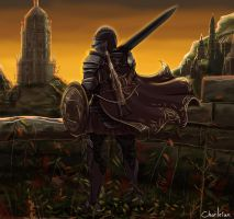 Commission-Dark Souls O.C.: Unnamed Ashen One by Charleian