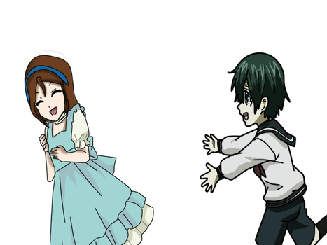 Ciel and Aileen as kids by QueenBrittStalin