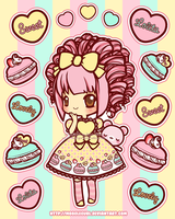 Stickers: Sweet Treat Macarons by MoogleGurl