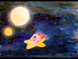 Kirby Painting by littlemisskirby