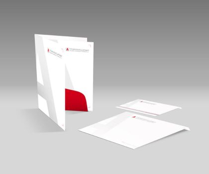 Ahmadiah Corporate Folder and Envelopes by themerboy