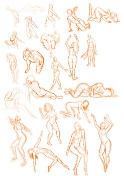 Figure studies by BunnyQueenT