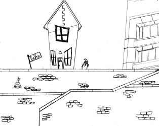 Zim's House at College by Ironic-Sarcasm
