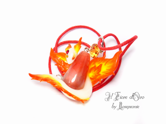 Fire Spirit necklace by rosepeonie