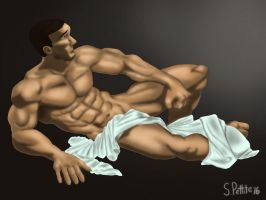 Figure Study in Repose by TumbledHeroes