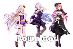[Halloween Gift] TDA Halloween Pack - MMD DL by Meennie46