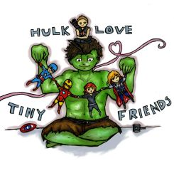 Hulk Love Tiny Friends by Sabaku-Chick