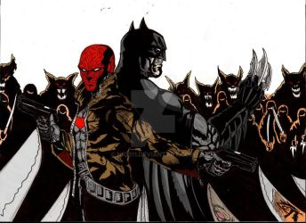 Red Hood And Batman Vs The League Of Assasin by nic011