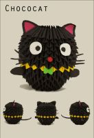 3d Origami - Chococat by gracy2227