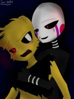 Request - Puppet x Goldie by Thorn-Shadow