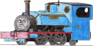 Albert the Blue Mid-Sodor Engine by 01Salty