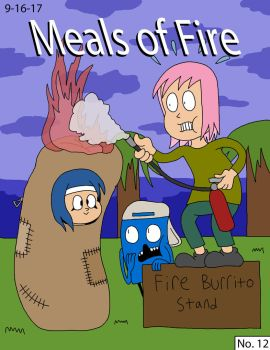 Meals of Fire (Block Frog Comic no. 12 Cover) by WildKats