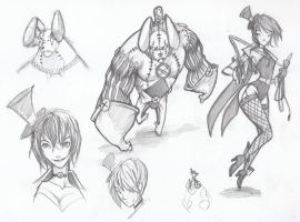 Sketches - Ram Doll and Tamer by ben-ben