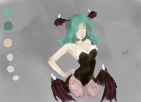 Morrigan Aensland - Speed Painting 007 (Request) by olq-plo