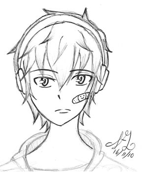 Boy with headphones by Akatowari