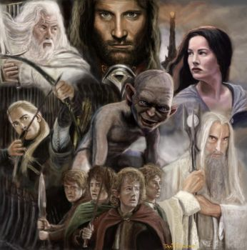 Lord of the rings by artelo