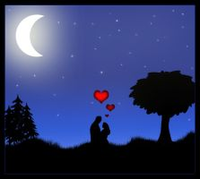 moonlight love by m1nuTe0fDeCaY