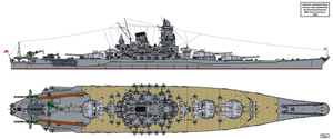 Yamato class Battleship Upgun Proposal by Tzoli