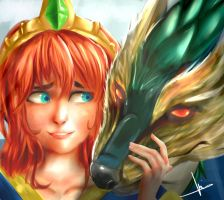 SMITE  Scylla by UnusualPie