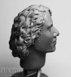 sayid from lost 2 head sculpt by sunohc