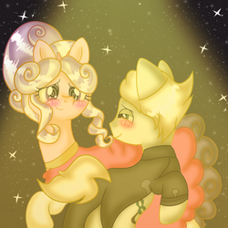 Screwball and Mysterious Stallion Dancing Redraw by DoraeArtDreams-Aspy