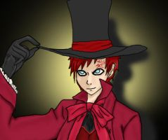 Gaara The Hatter by CantThinkOfAnamelol
