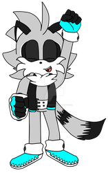 Stripes the Raccoon by WillowTheHedgehog17