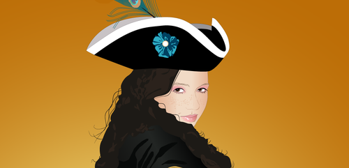 Aubry Pirate Face close up by emucoupons