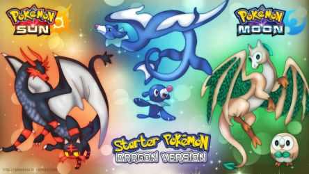 Starter Pokemon Sun/Moon Dragon Version by iPhenixia