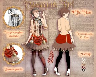(ADOPT - OPEN) Steampunk Girl (Paypal only) by Citrine-K