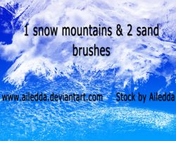 One snow and two sand brushes by Ailedda