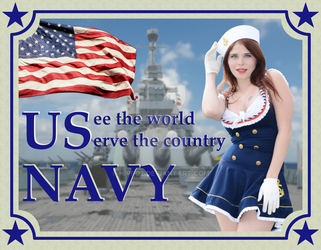 US Navy Poster by hippo2