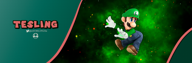 Luigi Banner - TesLing by Spineco