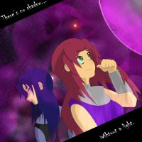 Sisters - Starfire and Blackfire by UberPaladin