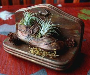 Baby Shoe Planter by lupagreenwolf