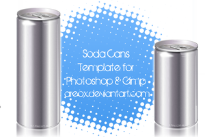 Gimp and PS Soda Can Template by AreoX