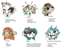 Tag Yourself (Bean edition) by BadgerBean