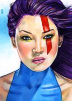 Psylocke Sketch Card 14 by veripwolf