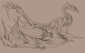 Wyvern Sketch by big-black-and-scary