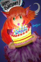 Happy birthday to Ms.Eva by Baronly