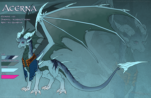 FD Ice AU : Acerna the Ice Guardian by WeirdHyenas