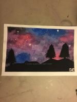 Watercolor Galaxy by pinkielora