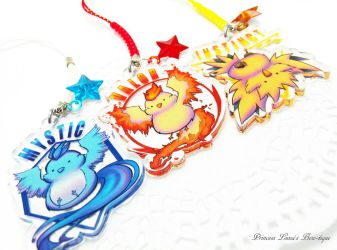 Pokemon Go Acrylic Charms by fullmoonnightonigiri