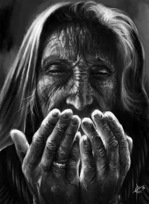 Old woman by Crateris