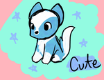 Cute Blue Wolf by AnimaloverXD