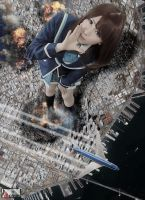 Mega Giantess Kokomi Shina - Call of The Goddess by GiantessStudios101